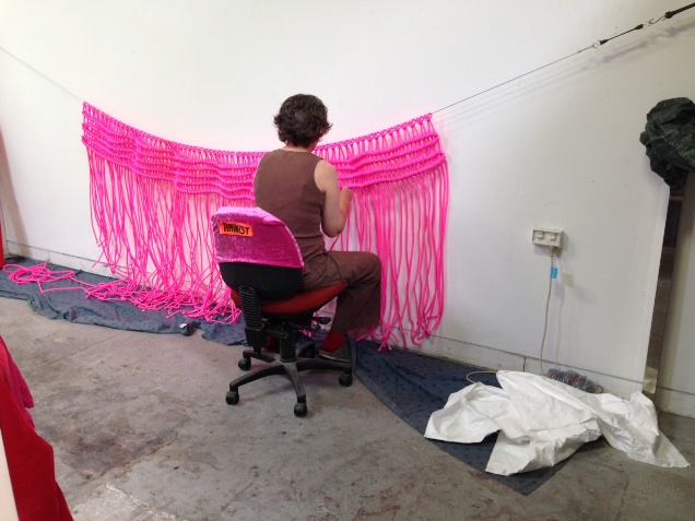 Caroline Phillips, working in studio - Copy