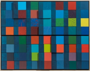 Year In Color - Night and Day: 6.18 - 8.12.2014, 2014, acrylic/gouache on panels, 34.2 x 43.5 in