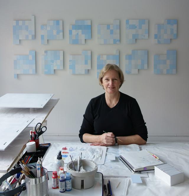 Linda Stillman in studio