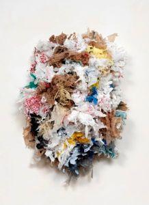 """Unitled PB 3, 2014, Plastic Bags, 27"""" x 36"""" x 9"""""""