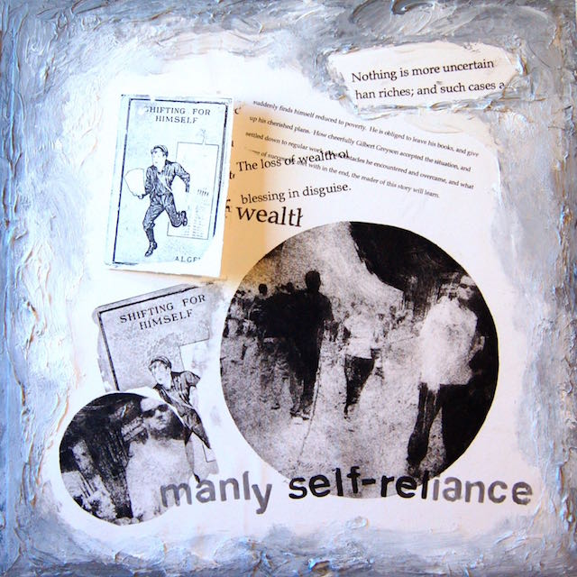 """Homilies for the 99% - Shifting,""  Collage, 16 x 16"" 2015"