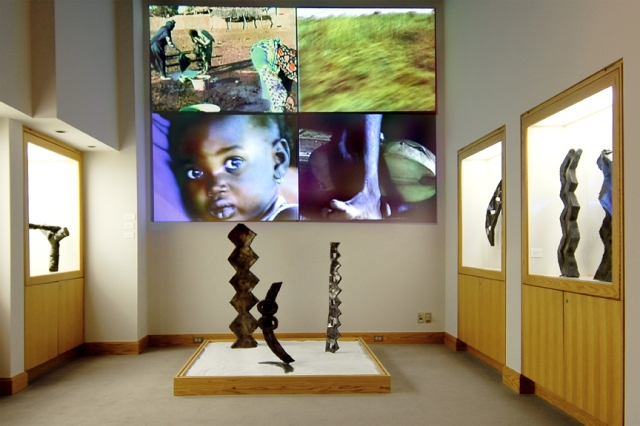 Zig-Zags Installation, steel sculpture, video, sound, Colgate University, 2006