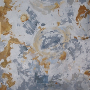 "Erosion, 2015, oil on canvas, 32"" x 32"""