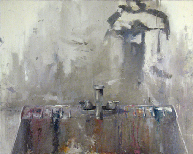 "Sink, 2014, oil on canvas, 24"" x 30"""
