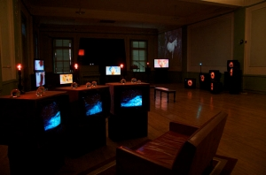 """Ether and the Voice: an Electronic Media Opera"" Exhibition / Multi-channel Installations / 2010"