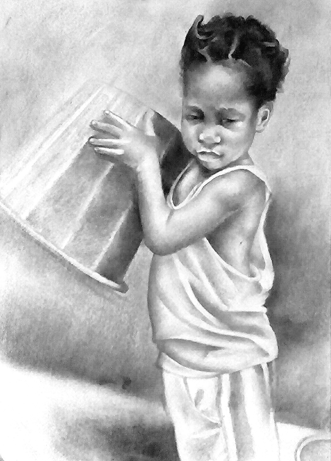 Sammie pencil on paper 16by 11 2015