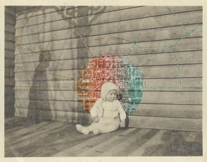 Defragmented 1.1, Found Photograph Digitally Altered, 11x14', 2014