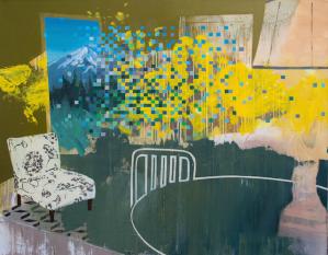 Ephemeral debris 42_ x 36_  Oil on Canvas 2014