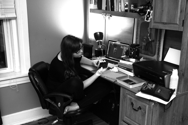me in studio