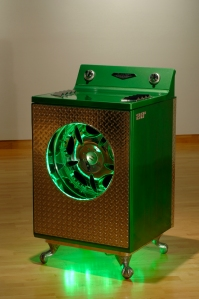 "they see me rollin' General Electric Dryer, 20"" chrome rim, chrome trim, LEDs 30""x30""x42"" 2012"