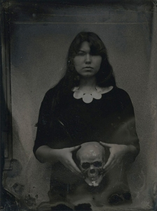 Holding The Unavoidable Tintype 3x4 inches 2015