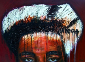 1.Excuse Me! Buckwheat has not been recovered by black people as a positive representation of their reality Oil on Canvas 26 in x 36 in 2009