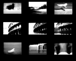 Collection of stills, Non-Lieux (2014) and audiomemories (2012),  Experimental video art  work,
