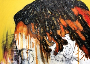 They Saw My Hair and Called Me Ignorant Before I Spoke Oil on Canvas 26 in x 36 in 2009