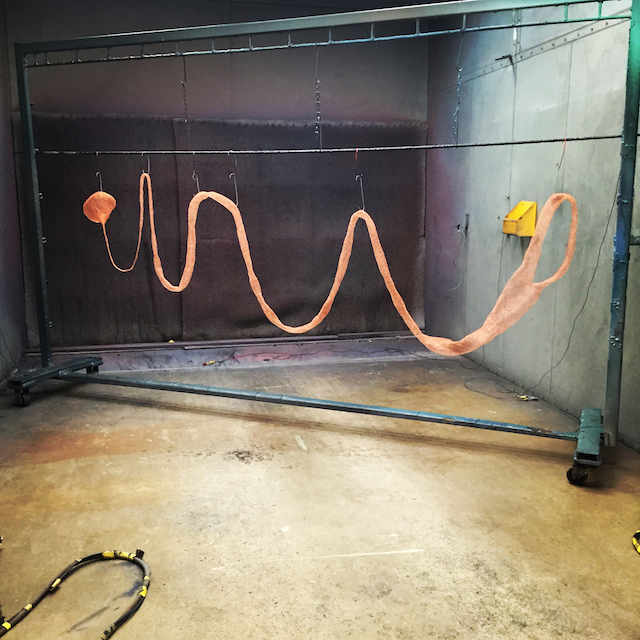 Powder coating In Process Studio Shot