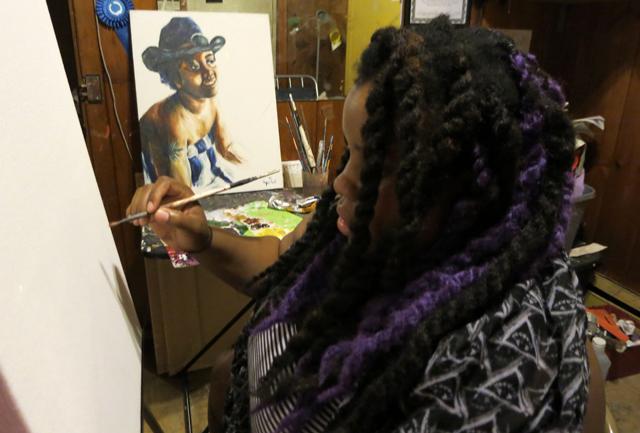 Angie Redmond Artist in Studio