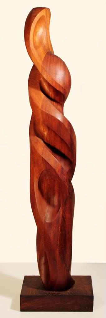 Chi-Iroko Wood, 9 x 7 x 38 inches, 2011