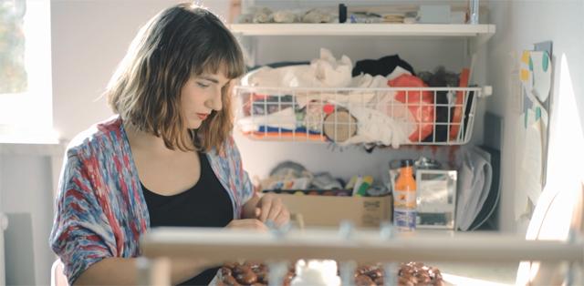 Izabela_Leska in her studio