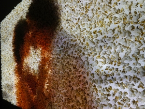 Kiss Me Popcorn!, video installation, 160x90 cm, 2014
