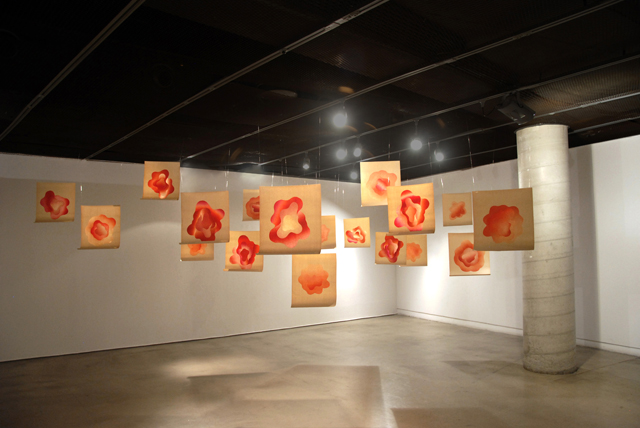 Zofia, installation, relief prints, 40 x 55 cm each, 2015