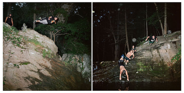 Devil's Pool Diptych #4, archival pigment print from medium format film, 23 x 43 inches, 2014.