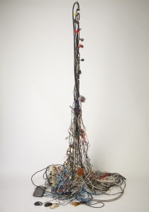 Entelechy #10, Electrical wire & components, 9'x4'x5', 2013
