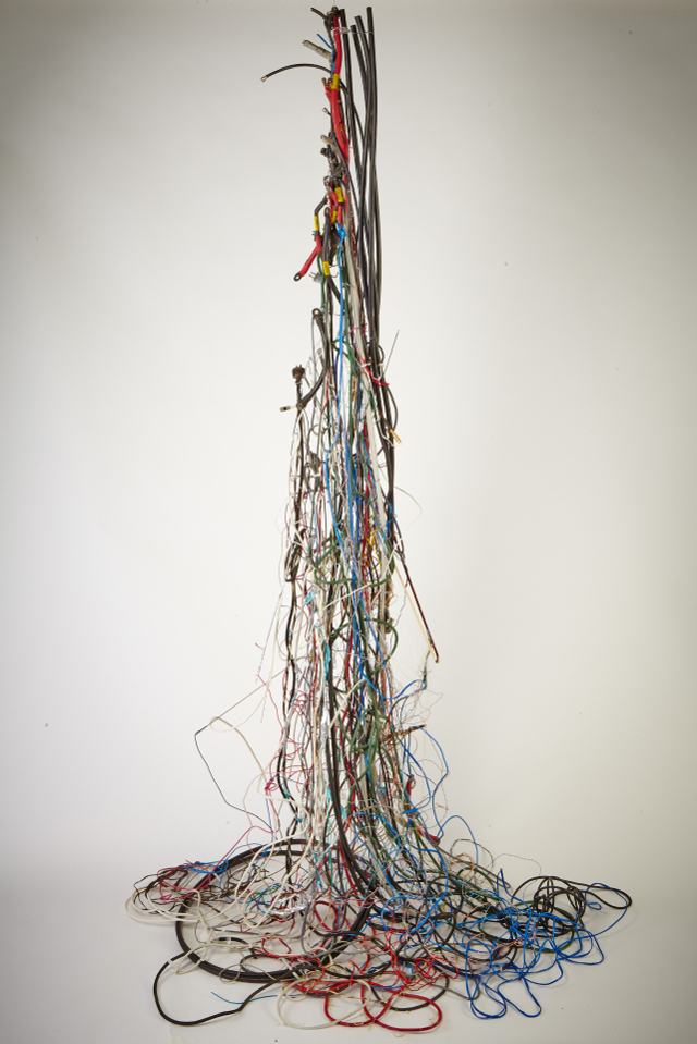Entelechy #9, Electrical wire, components & Erhu bow, 9'x5'x5', 2013