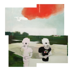 """""""I, Me, Mine"""", Oil on MDF, 180x180cm, 2014"""