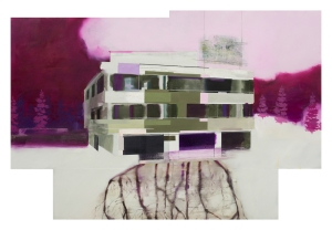 """Overlook Hotel"", Oil on MDF, 124x84cm, 2014"