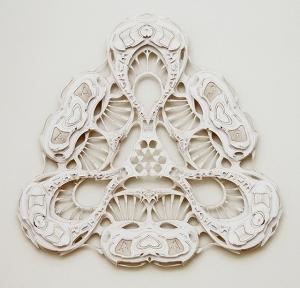Metamorph,-mat-board-on-plexiglass,-33-x-33-x-2-in.,-2013