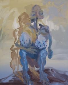 Weird Woman Standing Still IV (from the series Weird Women Standing Still) Oil on canvas 100x80 cm 2015