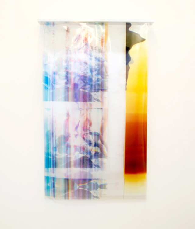 """Reduction"" 36''x 60'', 2014 Inkjet printed transparencies, Aluminum framing"