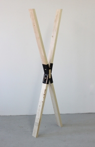 "Holding This Moment Pine and Sawhorse Brackets 6' x 2' x 4"" 2014"