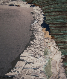 Landscape-Digital photography printed in cotton embroidered-40x33 cms-2015
