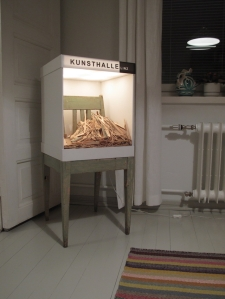 Siege, found object; a chair, 90/40 x 40 x 40 cm, 2015