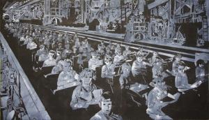 "Standardization, Acrylic on Canvas, 48""X72"", 2013"