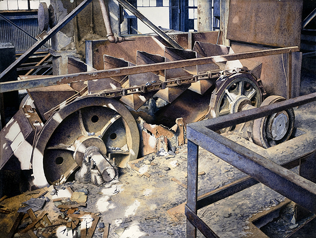 """Deus Ex Machina"" Watercolor, 22x30"". 2014"