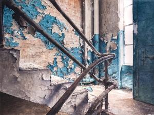 """""""Crescente Luce"""" Watercolor, 22x30"""". 2014"""
