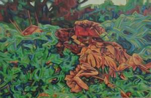 """""""Overgrowth"""" Oil on Linen 24"""" x 36"""" 2014"""