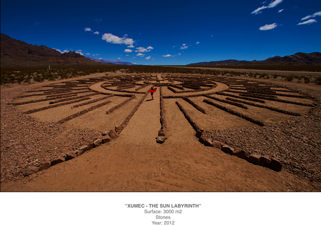 The Sun Labyrinth by Yamilla Marañón in the Andes Open Air Museum