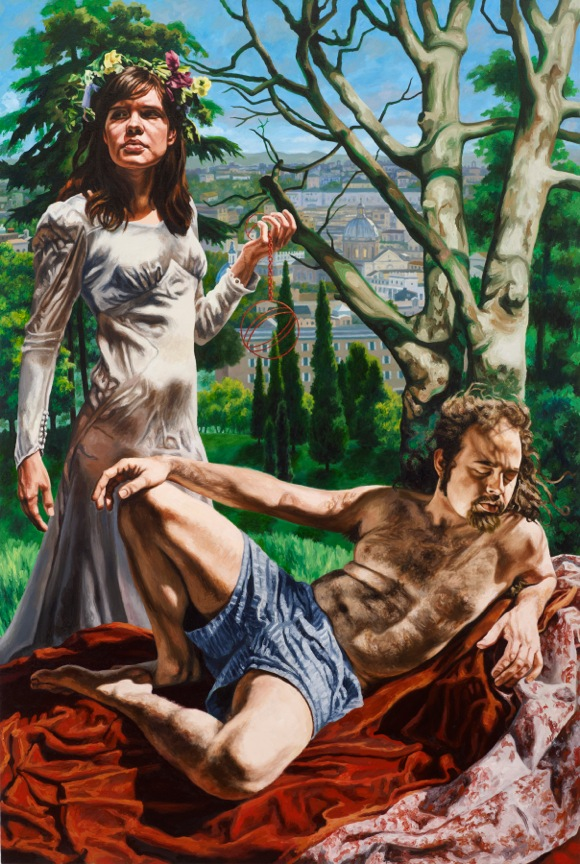 "Alchemical Wedding, oil on canvas, 72"" x 48"", 2012"
