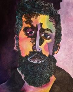 Beard #1, Oil, 19.5x25.5, 2015