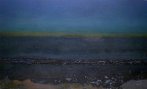 """""""Nocturne: Revere Beach"""" Oil on canvas 15 x 25 inches 2014"""