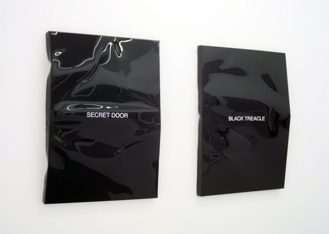 Secret-door,-2015,-paint-on-aluminium,-74x54x3-cm-Black-Treacle,-2015,-paint-on-aluminium,-74x54x3-cm