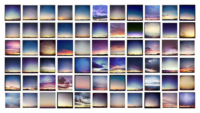 """Good Morning"", series of Instagram sunrises made from my window, 2012-present"