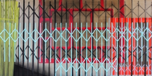 Secure_mixed media on linen_30inches x 60inches_2014_Teale Hatheway